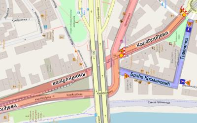 Затварање за саобраћај Карађорђеве улице