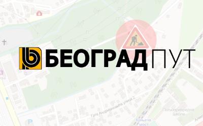 Затворена за саобраћај УлицаГрге Адријановића 3 део