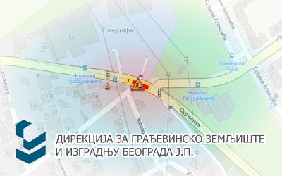 Радови под саобраћајем на раскрсници улица Сурчинска - Сурчински пут