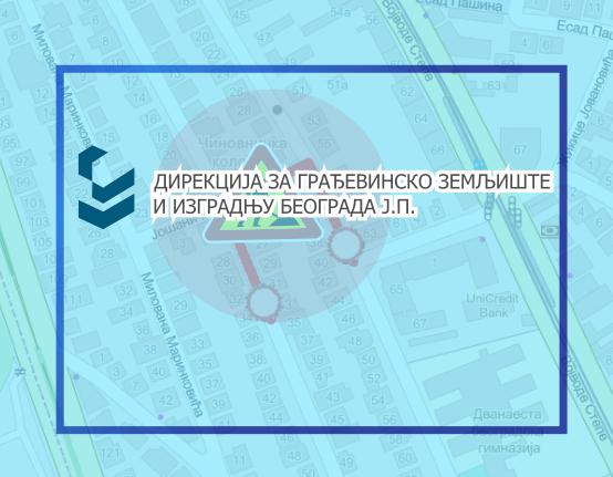 Затворене за саобраћаја  улице Косте Јовановић, Јошаничка и Јове Илића
