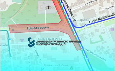 Црнотравска улица затворена за саобраћај