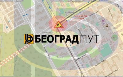 Затворена за саобраћај раскрсница улица Јурија Гагарина и Др Ивана Рибара