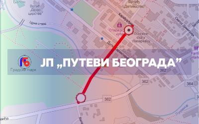 Затворена за саобраћај улица Војислава Воке Савић у Лазаревцу