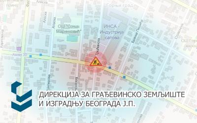 Радови под саобраћајем на раскрсници Угриновачке и Тршћанске улице